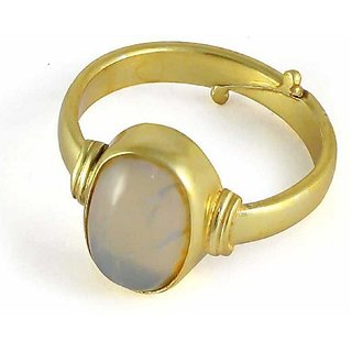 2.5 Ratti Gold plated  Original Opal  Ring Lab Certified Stone by Ratan Bazaar