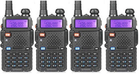 Artek UV 5R UV-5R Walkie Talkie with FM Radio, LED Torch, 5-10km (Line of Sight)  1800mAh Battery - 4 Pcs