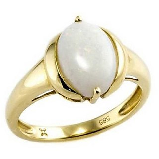 3.5 Ratti Opal Ring with Natural Gold plated Opal  Stone by Ratan Bazaar