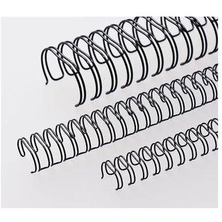 GBT Black Wiro Ring , 6.4mm 31 , 34 Loops ( 100 PCS / PKT )