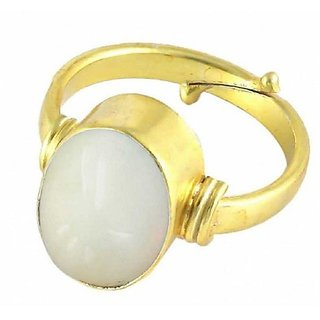 Natural Lab Certified 4 carat 100% Original Opal Gold plated Ring for unisex by Ratan Bazaar