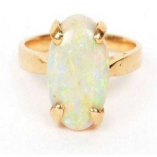 5.5 Carat  Ring with lab Report Gold plated Opal Stone by Ratan Bazaar