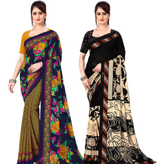 Anand Sarees Pack Of 2 Georgette Sarees with Blouse Piece (COMBOS_1107_2_1134_1 )