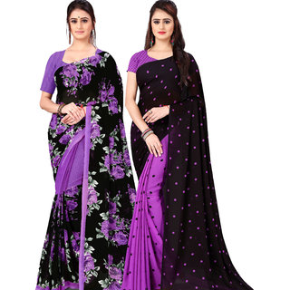Anand Sarees Pack Of 2 Georgette Sarees with Blouse Piece (COMBOS_1152_4_1262_4 )