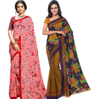 Anand Sarees Pack Of 2 Georgette Sarees with Blouse Piece (COMBO_1108_2_1552 )