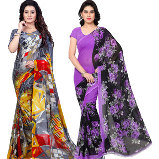 Anand Sarees Pack Of 2 Georgette Sarees with Blouse Piece (COMBO_1152_4_1344 )
