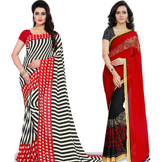 Anand Sarees Pack Of 2 Georgette Sarees with Blouse Piece (COMBO_1190_3_1439 )