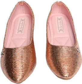 Elsa  Anna Gold Party-wear,Stylish Belly for Girls/Bellies for Kids/Fashion Belly