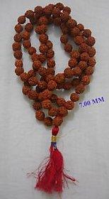 7 MM 5 MUKHI RUDRAKSHA JAPA MALA HINDU PRAYER JAPA MALA RUDRAKSHA BEADED MAALA