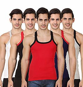PACK OF 5 HIGH QUALITY RICH COTTON AND SMOOTH FIT GYM VEST (FIRST CLASS COTTON)