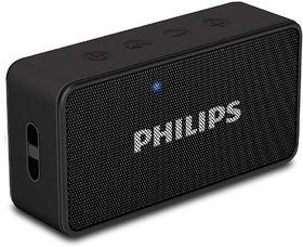 Philips BT60BK Wireless Bluetooth Portable Speaker (Black) with FM