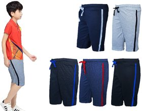 A2Classic Boys 3/4 Cotton Capri Without side pocket Pack of 5 colors