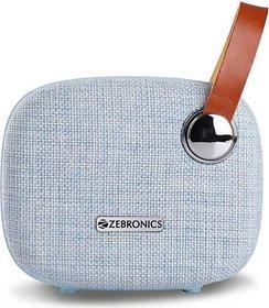 Zebronics ZEB-KNIGHT Bluetooth Speaker blue 6 W Bluetooth Speaker  (Blue, Stereo Channel)