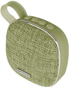 Zebronics Zeb-Passion, Zebronics Portable BT Speaker with mSD, FM, AUX, Mic & Fabric Finish (Green)