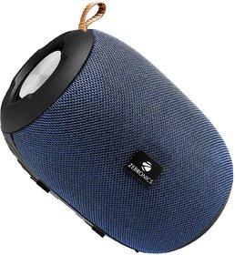 Zebronics Zeb-BRIO Portable BT Speaker with TWS Function, USB,mSD, AUX, FM, Mic & Fabric Finish (Blue)