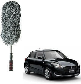 Auto Addict Car Microfibre Duster Brush Mop Car Cleaning Duster Mitt 1pc For Maruti Suzuki New Swift 2018