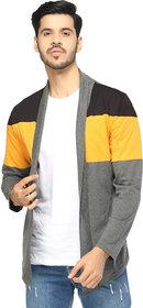 Glito Mens Stylish Multicoloured Shrug/Cardigan For Men
