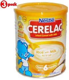 Nestle Cerelac Rice With Milk - 400g (Imported) (Pack of 3)
