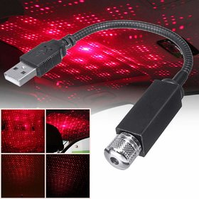 Threadstone Furnish MyAuto Universal Atmosphere Lamp Ambient USB Star Light Auto Roof Projector for Car, Bus,home ,ofc