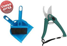 Combo Of Garden Scissor and Mini Dust Pan