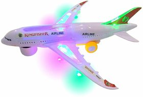 Gilol Battery Operated Aeroplane Toy for Kids (Light and Sound)