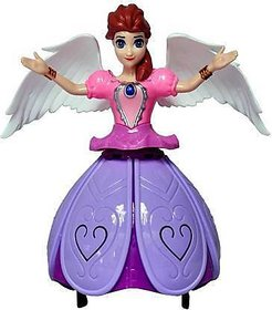 Gilol Dancing Angel Girl Robot with Lights and Music (Multicolor)