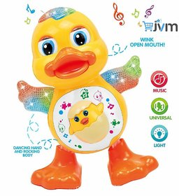 Gilol Dancing Duck Toy with Real Dance Action and Music Flashing Lights, Multi Color