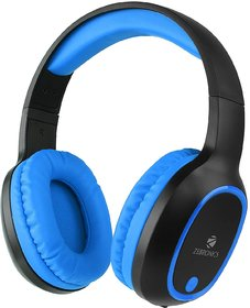 Zebronics Zeb-Thunder Wireless Over the Ea Headphone Supports Micro SD Card (Blue)