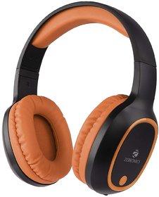 Zebronics Zeb-Thunder Wireless Over the Ea Headphone Supports Micro SD Card (Orange)