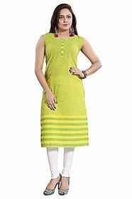 DREAM  DZIRE Women's Cotton Regular Kurta (Green-S)