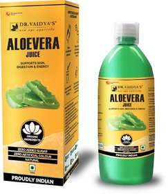 Dr. Vaidya's Aloevera Juice - Supports Skin , Digestion  Energy (1 LTR) - Vegetarian , Zero Added Sugar