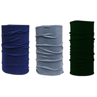 Adhvik Pack Of 3 Pcs Multicolor Multipurpose Free Size Sun Protection HeadWraps,hair Bandana Band For Boys And Girls