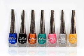 La Perla Glitter Liquid Eyeliners Pack of 7
