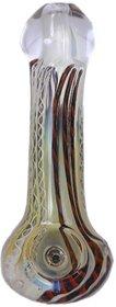 Calzar Multicolored  15 cm  Designer Smoking Glass Pipe,Hookah