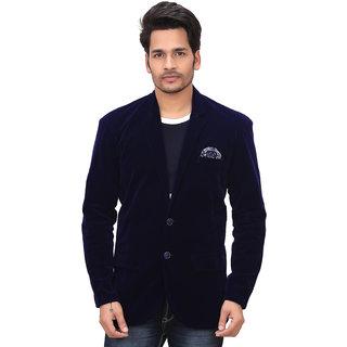 Garun Blue Velvet Blazer For Men