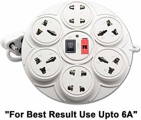 6 Amp 8 Universal Multi Plug Point Extension Board (Cord Length 2.50 Meter) with LED Indicator and Switch