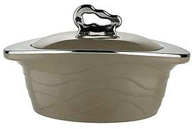 Trueware Zinna Serving Casserole Set 750 ml Grey Stainless Steel