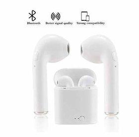 i7s 5.0 TWS Ear Buds Wireless with Mic Headphones  Mini Twin Portable Bluetooth Headset