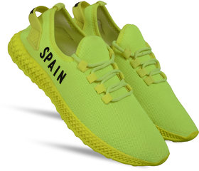 Spain Green printed casual sports shoes for men's