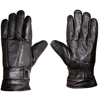 Winter leatherite Gloves Free Size( 1 Pair )