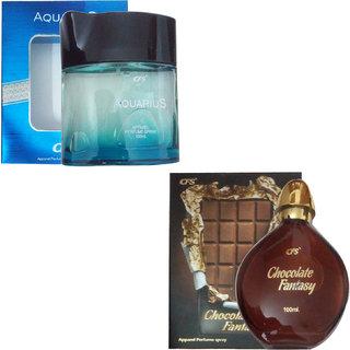 Cfs Aquarius Perfume (100 ml) (Pcs 1 ) + Cfs Chocolate Fantasy (100 ml) ( Pcs 1 )