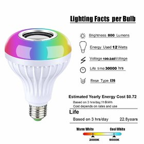 BOSSTECH RL-97 Portable Bulb Bluetooth Speaker with Music Light Compatible with All Device (Random Colour)