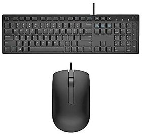 Dell USB Wired Keyboard amp Mouse Combo(Black) KB216+MS116