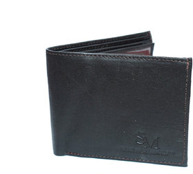 Men Casual Dark Brown Plain Stylish LEATHER WALLET With 3 card slots/coin pocket / light weight-(931)