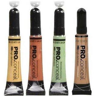 TRIVETY set of 4 HD pro Conceal Concealer (orange,green,yellow,beige) Concealer  (orange, green, yellow, beige, 32 g)