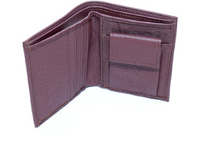 Men Casual New unique Brown Leather wallet With 2 card slots/one coin / light weight-(160)