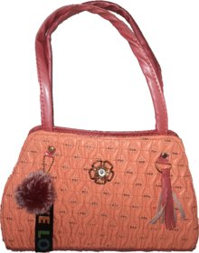 ladies hand bag  , diomand placed ,(red )