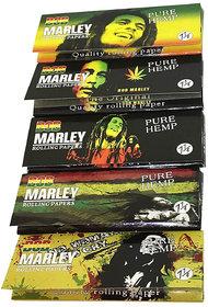 Bob Marley Hemp Rolling Paper small -Set of 5 Booklet Combo Pack Cigarette Smoking Paper raw ocb Sheet by kushkulture420