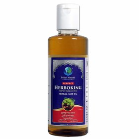 Prithvi Naturals Herboking, 11 Herbs In One Herbal Hair Oil Best For Hair Growth  Nourishment For Men And Women (200ml)