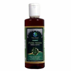 Prithvi Naturals Perfect Pure Neem Herbal Hair Oil, Controlls Hairfall And  Major Hair Problems (200ml)